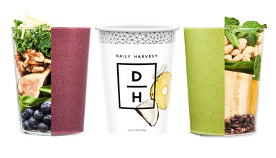 Daily Harvest smoothies are comprised of superfoods, fruits, vegetables and healthy fats, and are nutritionist and chef-designed for optimally balanced nutrition and taste.