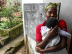 In rural Freetown, Sierra Leone, Save the Children is leading a community sensitization program, where it trains community leaders on how to spread the word about preventing Ebola. Save the Children photo. (PRNewsFoto/Save the Children)