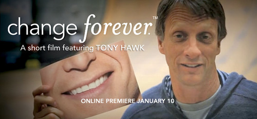 "On January 10th, Operation Smile, an international children's medical charity, is premiering ""change forever(TM)"" - a short interactive film starring Tony Hawk which can be viewed at www.wecanchangeforever.com. Operation Smile is celebrating its 30th anniversary of saving lives and healing smiles.  (PRNewsFoto/Operation Smile)"