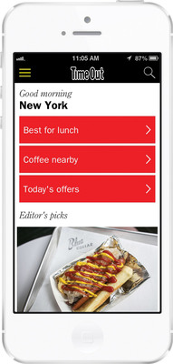 Time Out Launches New Universal Mobile App.  (PRNewsFoto/Time Out Group)