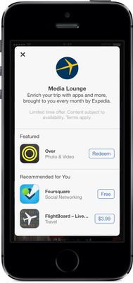 Expedia Media Lounge.  (PRNewsFoto/Expedia.com)
