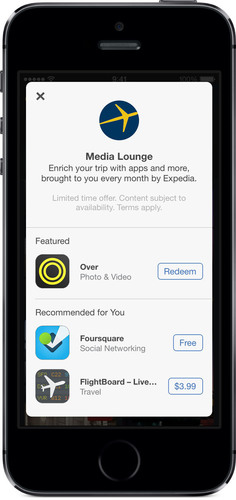 Expedia Media Lounge.  (PRNewsFoto/Expedia.com)