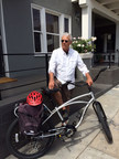 Bill Borden, 63, a producer of more than 35 films including the High School Musical series, Desperado and La Bamba, commutes to work on his Pedego Interceptor, allowing him to enjoy daily exercise, sunshine and fresh air while avoiding stress from traffic and limited parking.
