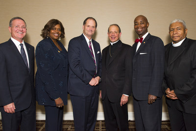 National faith leaders gather at a dinner in Washington, D.C. with Dr. Brian Grim of Georgetown University and author of study on the impact of religion in America.
