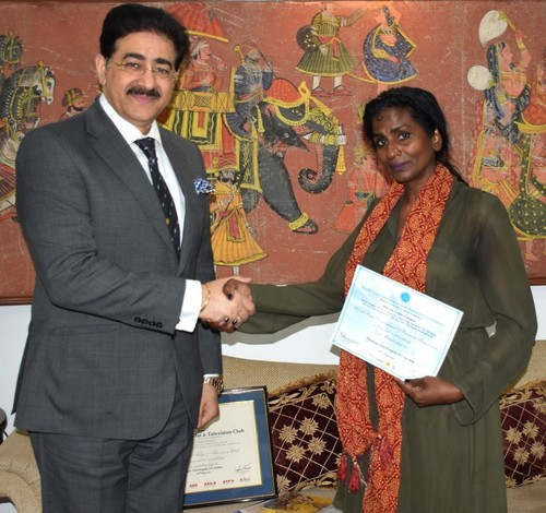 Principality Monte De Agrella Honored Sandeep Mawah With IPMDACF Chair