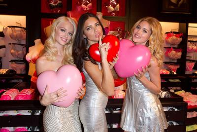 Victoria's Secret Angels Celebrate Valentine's Day with Lots of Love.  (PRNewsFoto/Victoria's Secret)