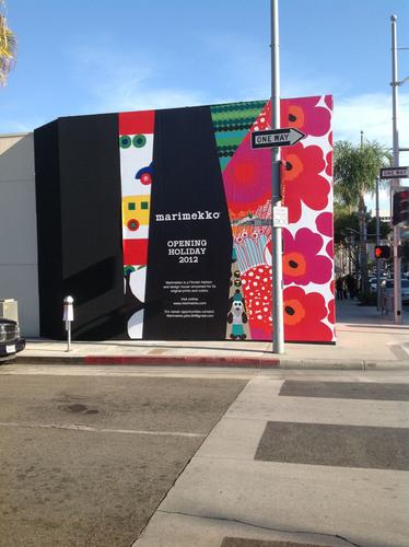 Marimekko Beverly Hills Barricade.  (PRNewsFoto/Marimekko)