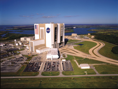 Kennedy Space Center Visitor Complex is offering rare behind-the-scenes tours for its 50th anniversary year, including one taking visitors inside the massive, 525-foot-tall Vehicle Assembly Building, where the Apollo rockets and space shuttles were assembled.   (PRNewsFoto/Kennedy Space Center Visitor Complex)