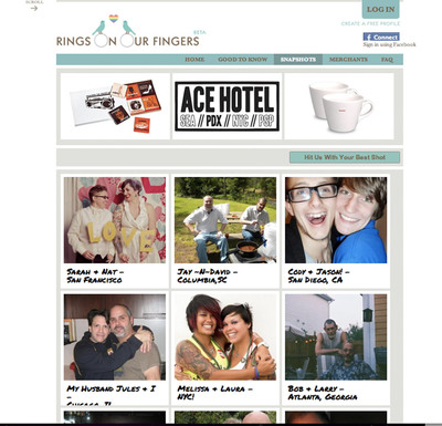 RingsOnOurFingers.com Celebrates LGBT Relationships & Life Events - Credit: Courtesy of RingsOnOurFingers.com.  (PRNewsFoto/RingsOnOurFingers.com)