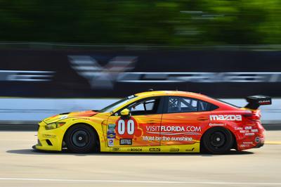 Visit Florida Racing Mazda6 Takes Motown Grand-Am GX Win.  (PRNewsFoto/Mazda North American Operations)