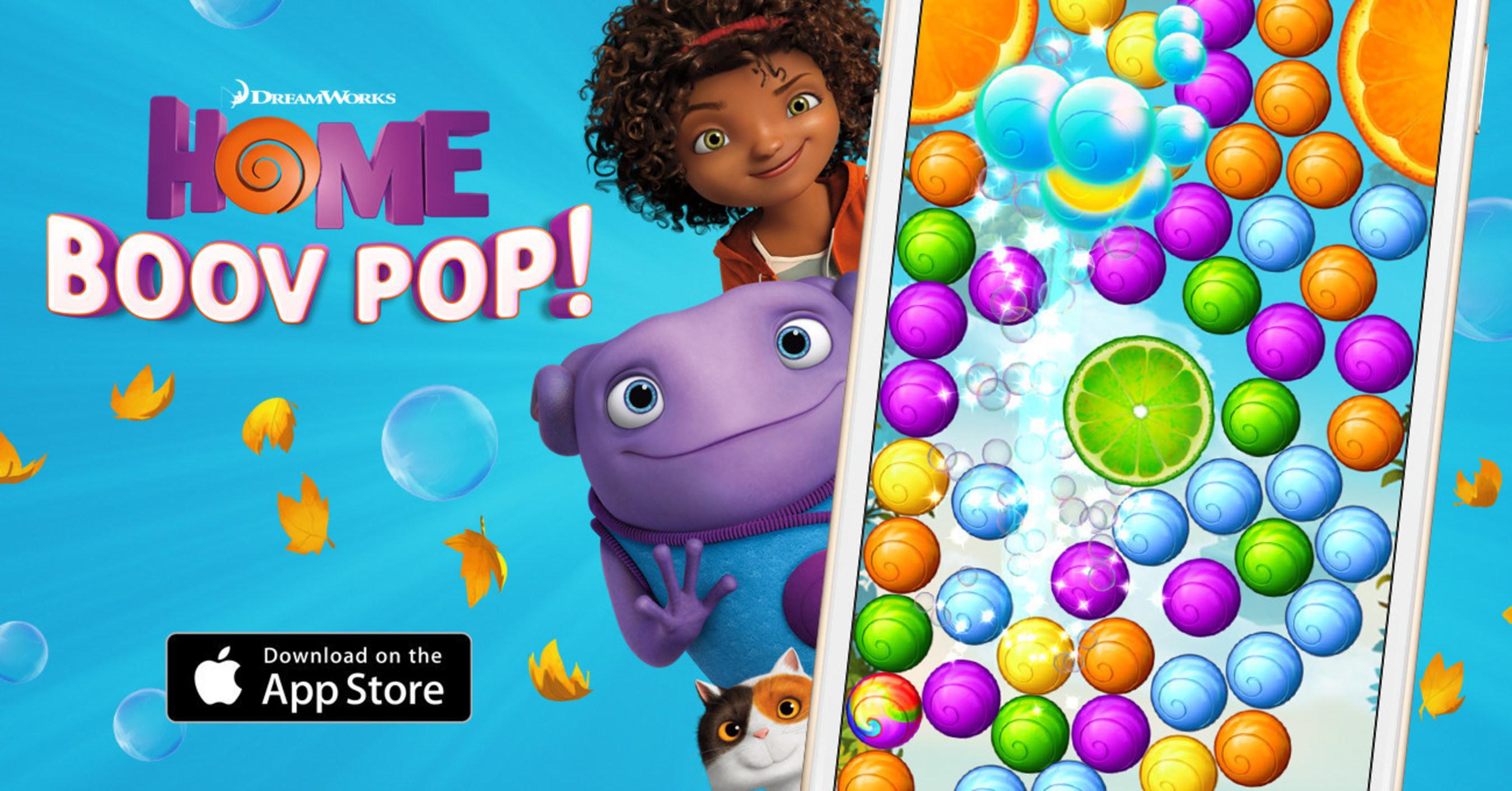 Lancement de HOME: Boov Pop! Jeu de puzzle officiel sur mobile basé sur le film EN ROUTE ! de