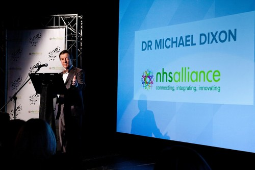 NHS Alliance outgoing chairman Dr. Michael Dixon at the NHS Alliance 'Vision for the Future' event hosted by ITN Productions. (PRNewsFoto/NHS Alliance) (PRNewsFoto/NHS Alliance)
