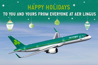 Happy Holidays to you and yours from everyone at Aer Lingus.  (PRNewsFoto/Aer Lingus)