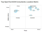 SourcingLine Research: Top OpenText ECM Consultants.  (PRNewsFoto/SourcingLine)