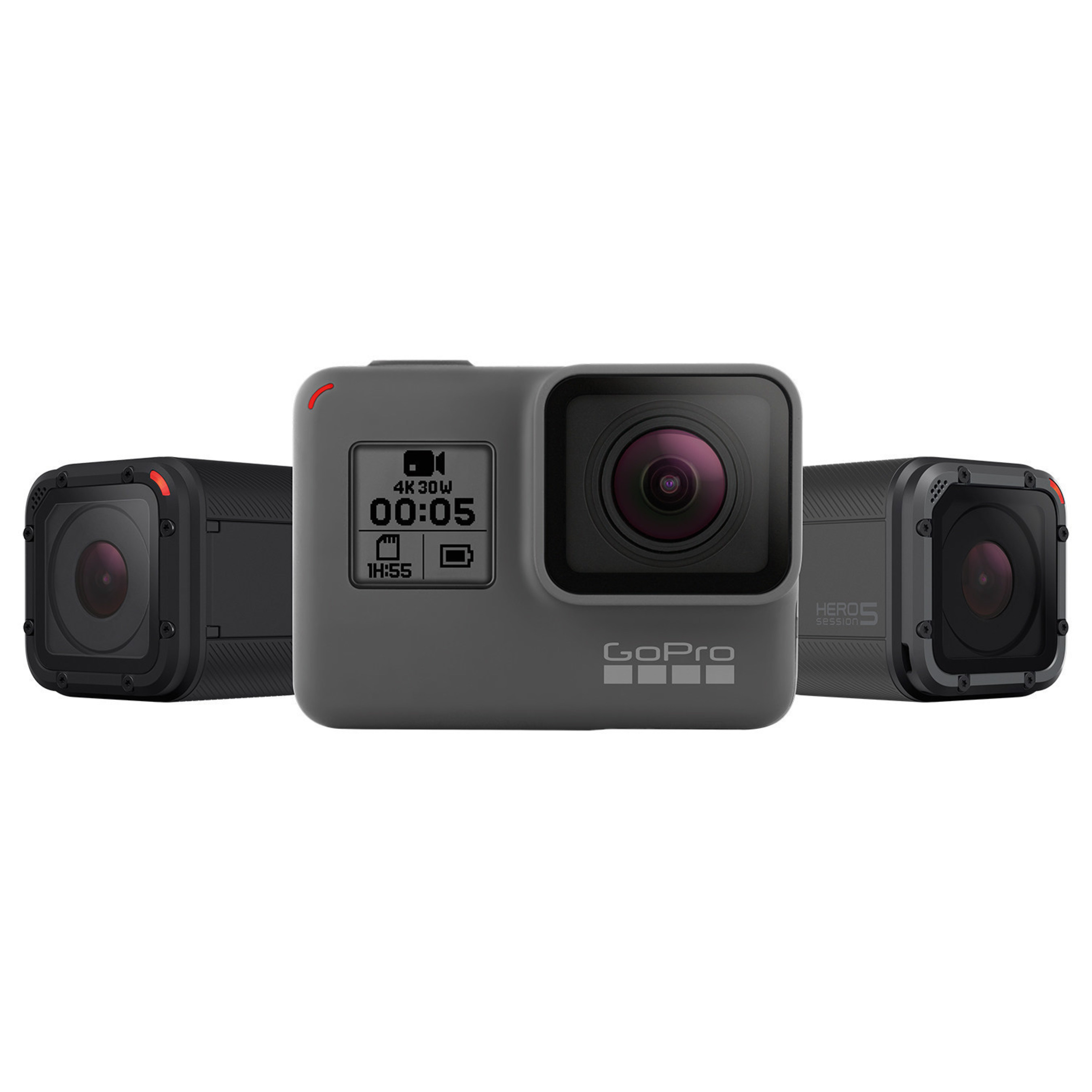 GoPro's all-new HERO5 line of cameras.