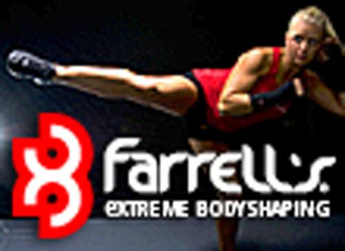 Farrell's Corporate Logo w/ Roundhouse Kick. (PRNewsFoto/Farrell's eXtreme Bodyshaping) (PRNewsFoto/FARRELL'S EXTREME BODYSHAPING)
