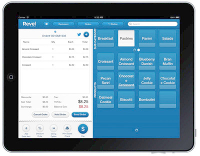 Revel iPad POS with Twitter Integration for Food Truck POS.  (PRNewsFoto/Revel Systems)