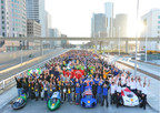 All of the student teams from across the Americas, including US, Canada, Mexico, Brazil and Guatemala, at Shell Eco-marathon Americas 2015 in Detroit, Michigan