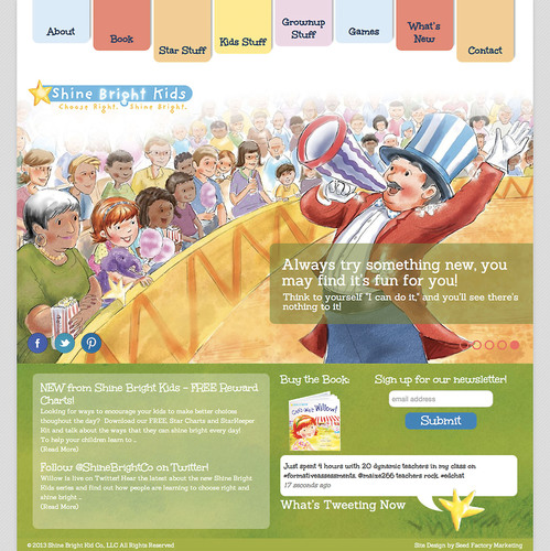 Seed Factory Marketing Launches Shine Bright Kids Website.  (PRNewsFoto/Seed Factory Marketing)