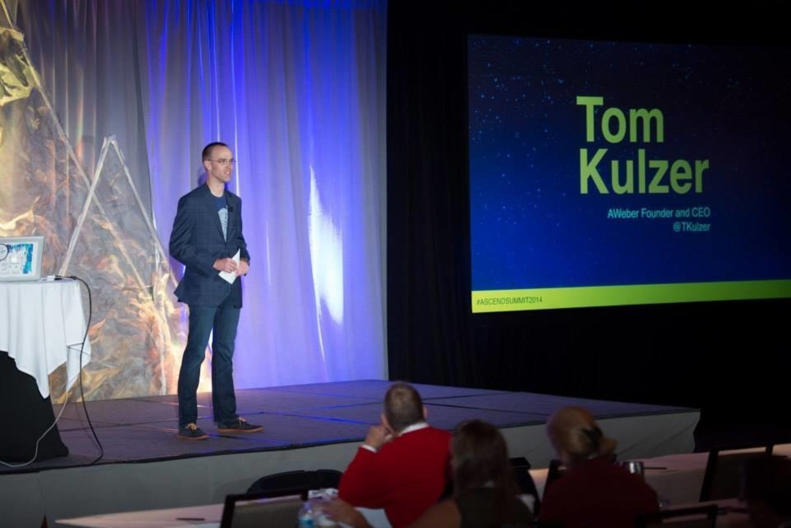 AWeber Founder and CEO Tom Kulzer welcomes attendees to ASCEND Digital Marketing Summit 2014