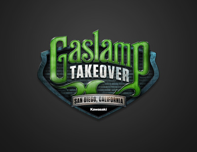 "Kawasaki's ""Gaslamp Takeover,"" a downtown area street closure set for Saturday evening, Sept. 7 in San Diego, will feature motorcycle riding exhibitions, new product displays, appearances by championship racers, fashion shows, and give-aways.  The event is free and open to the public.  (PRNewsFoto/Kawasaki)"