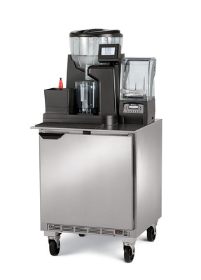 Vitamix(R), the world leader in high-performance blending equipment for commercial and home use, introduces the Modular Blending System, created for high volume, drive-thru quick-service restaurants. This newest Vitamix commercial blending technology continues a legacy of innovation by increasing speed of service and accuracy of drink build -- all in a compact, quiet package that blends to precisely the same smooth consistency every time. For more information on the Vitamix Modular Blending System visit vitamix.com.  (PRNewsFoto/Vitamix)