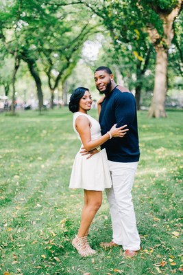 Devon Still and Asha Joyce, The Knot Dream Wedding 2016 couple