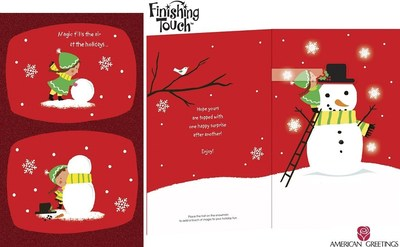 Capture the Magic of the Season with Brand-New Finishing Touch(TM) Interactive Cards from American Greetings