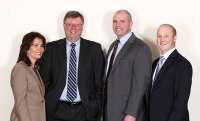 Berkshire Bank Eastern Massachusetts Lending Team: Joanne R. Tercho, Brant A. McDougall, John M. Malvey, and Christopher P. DeFronzo.  (PRNewsFoto/Berkshire Hills Bancorp, Inc.)