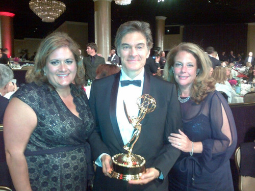 The Dr. Oz Show won its third consecutive Daytime Emmy Award last night for Outstanding Talk Show - Informative. From Left to Right are Executive Producer Amy Chiaro, Host Mehmet Oz, M.D., and Executive Producer Mindy Borman.  (PRNewsFoto/The Dr. Oz Show)