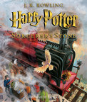 Harry Potter boards the Hogwarts Express for the first time in the cover image of the illustrated edition of Harry Potter and the Sorcerer's Stone available 10/6/15.