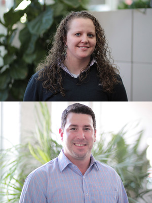 Envision Technology Advisors' engineers, Annette Niemczyk and Damian Costantino, earn their ENS (Extreme Networks Associaties) certifications.  (PRNewsFoto/Envision Technology Advisors)