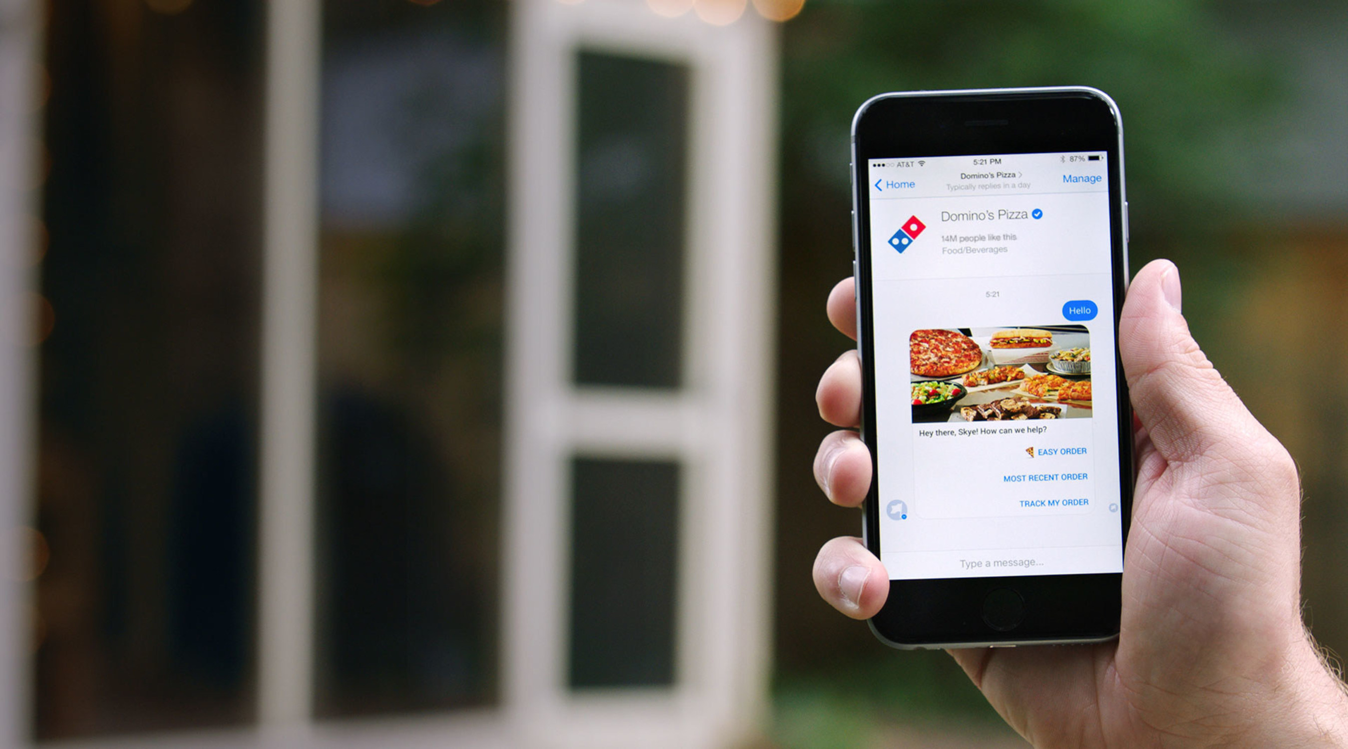 Domino's' Launches Messenger Ordering in the U.S.
