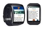 TripCase flight alerts on Samsung Gear S smartwatch