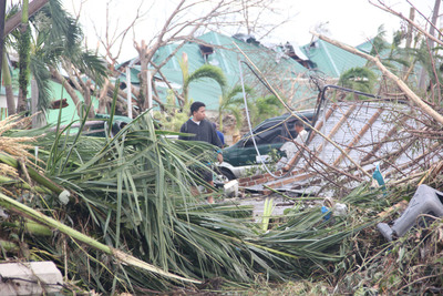 The aftermath of Typhoon Haiyan in the town of Palo in the Philippines. Communities in Vietnam were bracing themselves Sunday, Nov. 10, as the super typhoon was headed their way after causing devastation in the Philippines, with an estimated 10,000 people there feared killed. Save the Children photo.