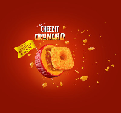 Cheez-It is making its first ever appearance in the chip aisle by introducing Cheez-It Crunch'd, its first ever cheesy puff.