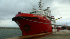 Save the Children's search-and-rescue ship Vos Hestia departs to help children in need in the Mediterranean. Photo credit: Save the Children