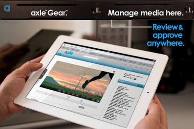 axle Gear is a radically simple, complete solution for media management and transcoding.  Priced at $6,995, it lets nontechnical staff search and review media files from their browsers on any iPad or laptop.  Capabilities include tagging, remote browsing and annotation of media.  It fits in a compact 1U or rack space and runs almost silently.  (PRNewsFoto/axle Video, LLC)