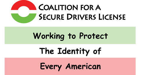 Coalition for a Secure Driver's License. (PRNewsFoto/Coalition for a Secure Driver's License)
