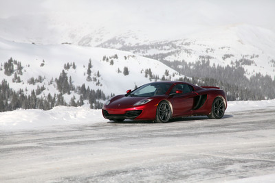 McLaren 12C Spider on Loveland Pass in Colorado driven by Rhys Millen in a new short film.  (PRNewsFoto/McLaren Automotive)