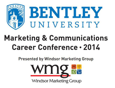 Windsor Marketing Group (WMG), an innovative in-store marketing company based in Suffield, CT, continues to build and strengthen its partnership with Bentley University in Waltham, MA by presenting the Marketing / Communications Career Conference on March 21.  (PRNewsFoto/Windsor Marketing Group)