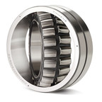 A new line of high-performance Timken(r) spherical roller bearings includes steel cages.