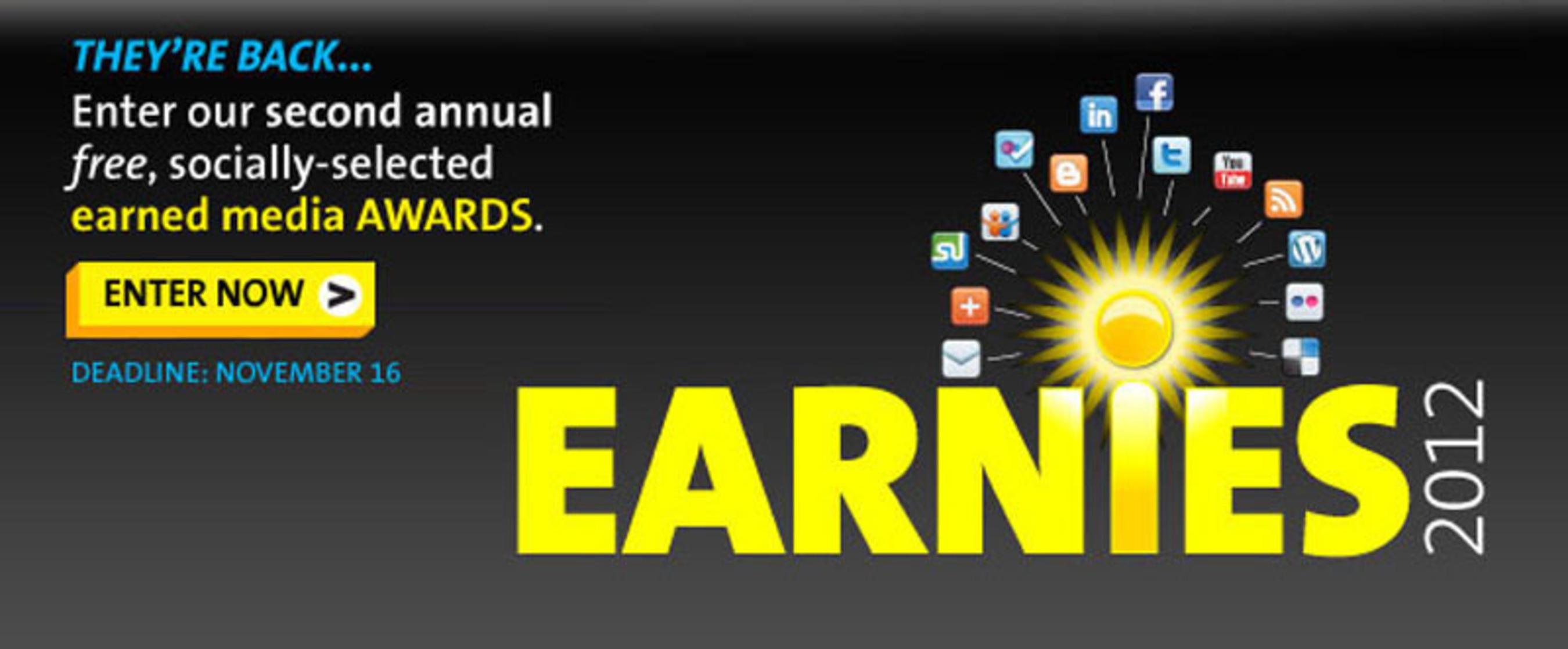 Enter PR Newswire's 2012 Earnies Awards, www.agilitycommunity.com.  (PRNewsFoto/PR Newswire Association LLC)