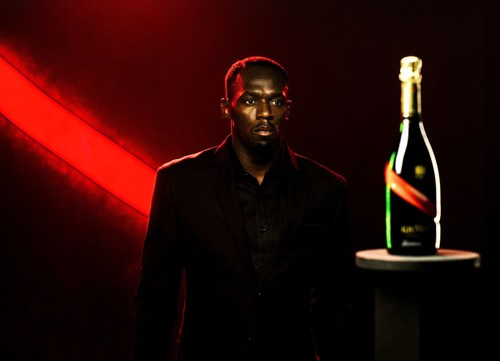 Usain Bolt, Icon of Victory, is appointed the New CEO of Maison Mumm - Photo Credit: Bastien Bonnarme / Willie Beamen (PRNewsFoto/Maison Mumm)