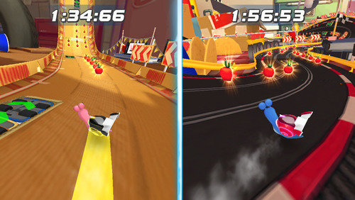 Gameplay action from DreamWorks Animation's Turbo Racing League.  (PRNewsFoto/DreamWorks Animation SKG, Inc.)