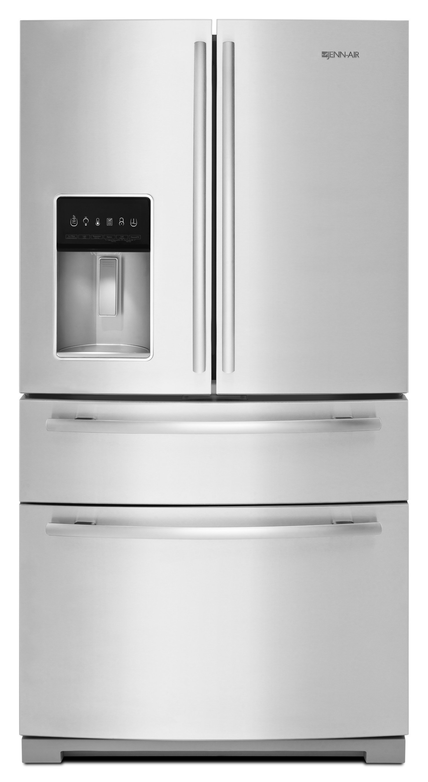 """Luxury appliance maker Jenn-Air has enhanced its 69"""" standard-depth French door refrigerator options with a new model option featuring a dedicated exterior drawer for customizing food and ingredient storage."""
