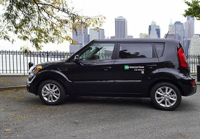 Enterprise CarShare vehicle in Brooklyn, New York.