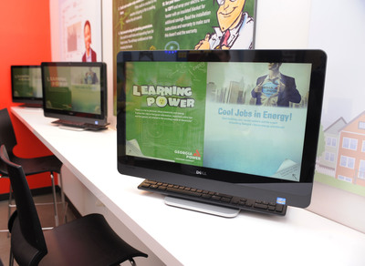 Georgia Power's Discovery Center storefront includes information on the company's Learning Power program - an online energy resource for teachers, students and parents.  (PRNewsFoto/Georgia Power)