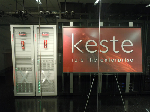 Keste Launches Center of Excellence Featuring both Oracle Exalogic Elastic Cloud AND Exadata Database Machine.  (PRNewsFoto/Keste)