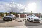 Edmunds.com Tesla Drivers Set Record for Cross-Country Travel in Electric Vehicle (PRNewsFoto/Edmunds.com)